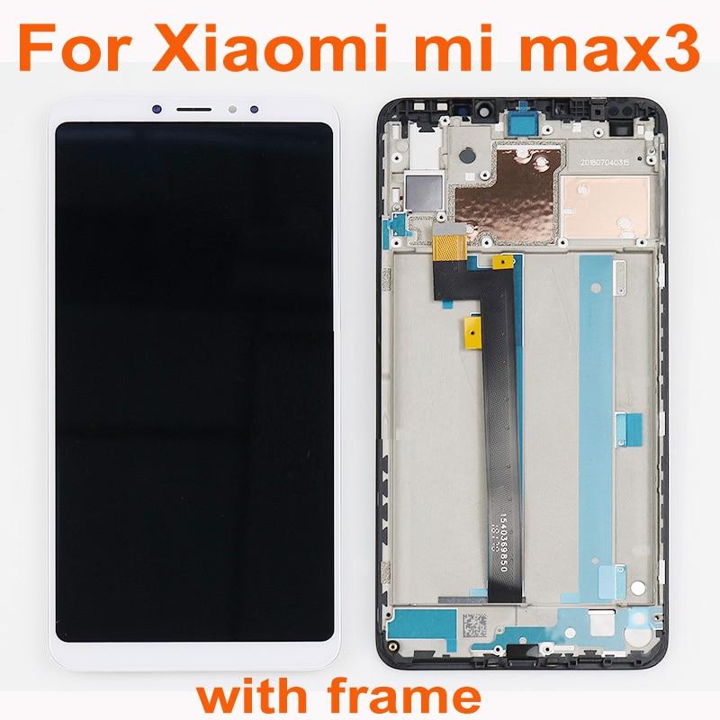Sensor LCD de 100% de garantía para Xiaomi Max 3 mi Max 3 pantalla táctil digitalizador para mi Max3 montaje con marco