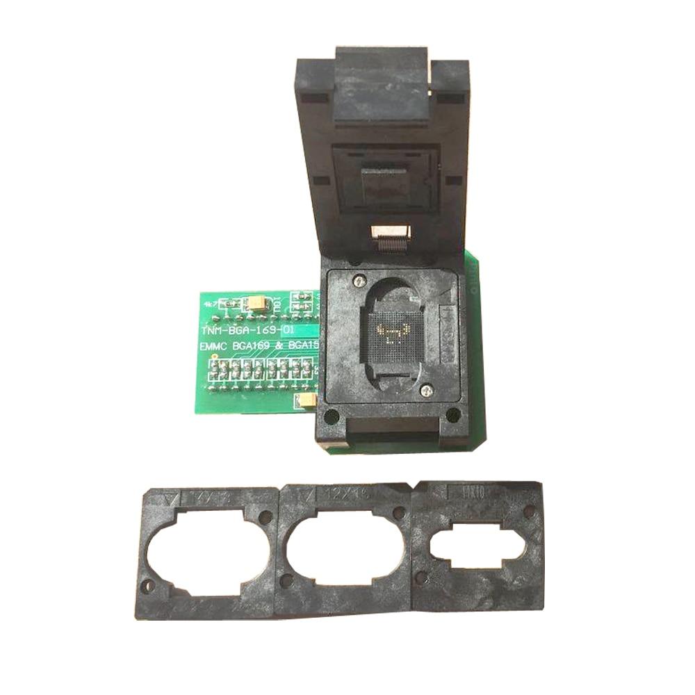 TNM-BGA-169-01,emmc nand flash BGA169 BGA153 adapter+4pcs board limiters,only for TNM5000 /TNM7000 programmer