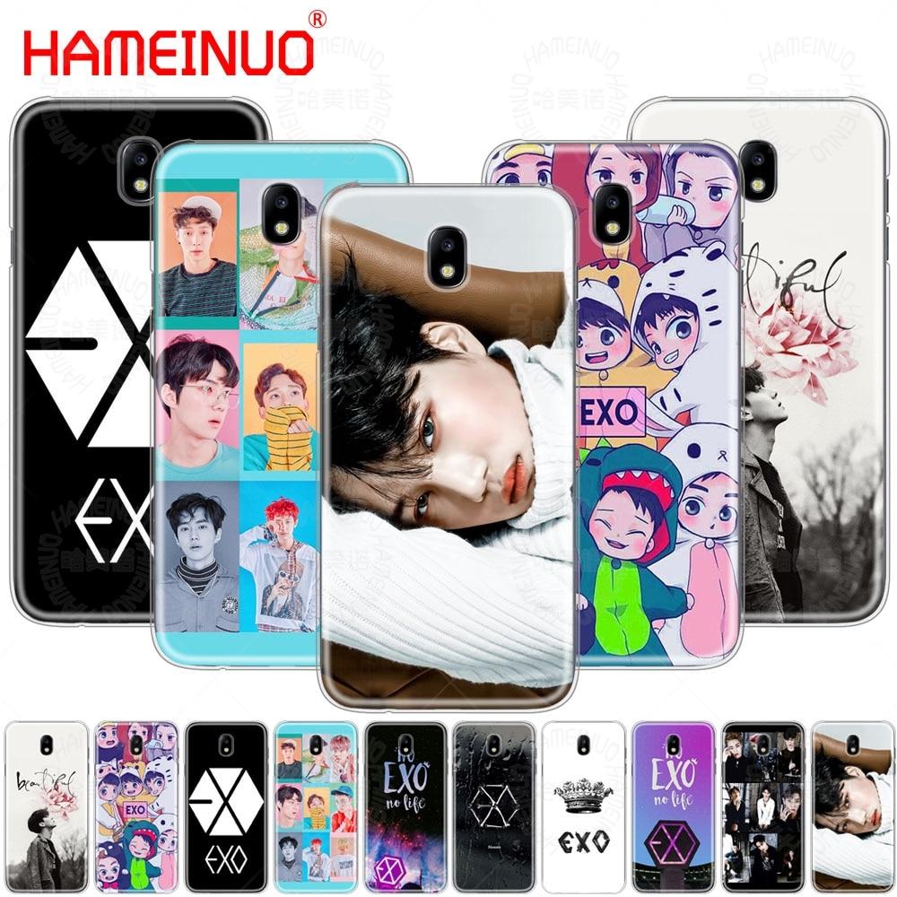 Kpop exo HAMEINUO Sorte um case capa do telefone para Samsung Galaxy J3 J5 J7 2017 J527 J727 J327 J330 J530 J730 PRO