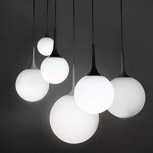 GZMJ LED Pendant Vintage Lights Handing Lamp Milk Globe Glass Shade Suspension luminaire hanging lamps globe Living Kitchen