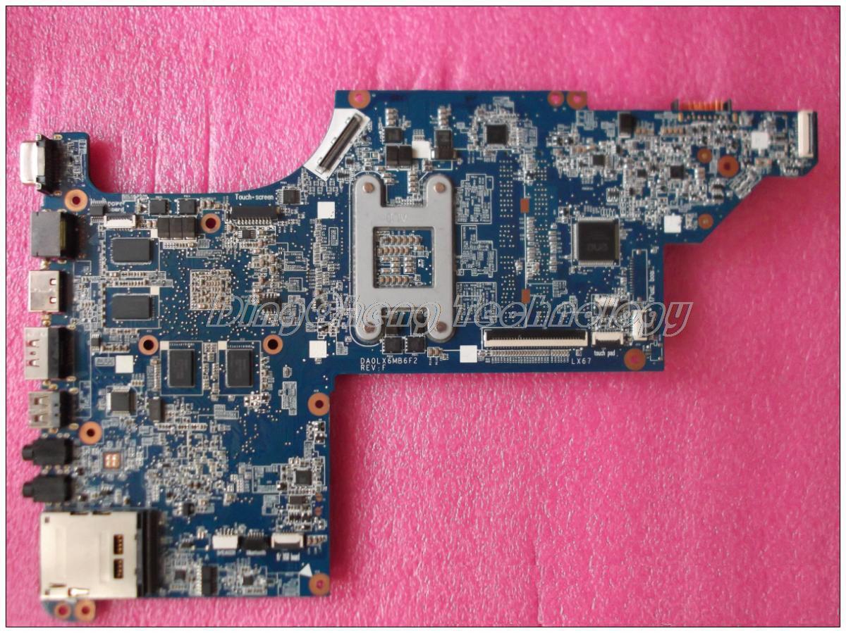 HOLYTIME placa base para portátil hp DV6-3000 DV6T placa madre del cuaderno 603642-001 DA0LX6MB6F2 HM55 DDR3 100% prueba