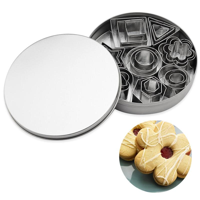 OBRKING 24 шт./компл. фрезы для печенья из нержавеющей стали круглые треугольные формы для резки цветов сердца помадка формы для торта Выпекание ...