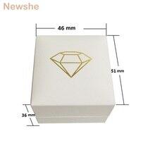 Newshe wysokiej jakości Velet pudełko na pierścionki luksusowe opakowanie na biżuterie hurtownia obsługi klienta Logo