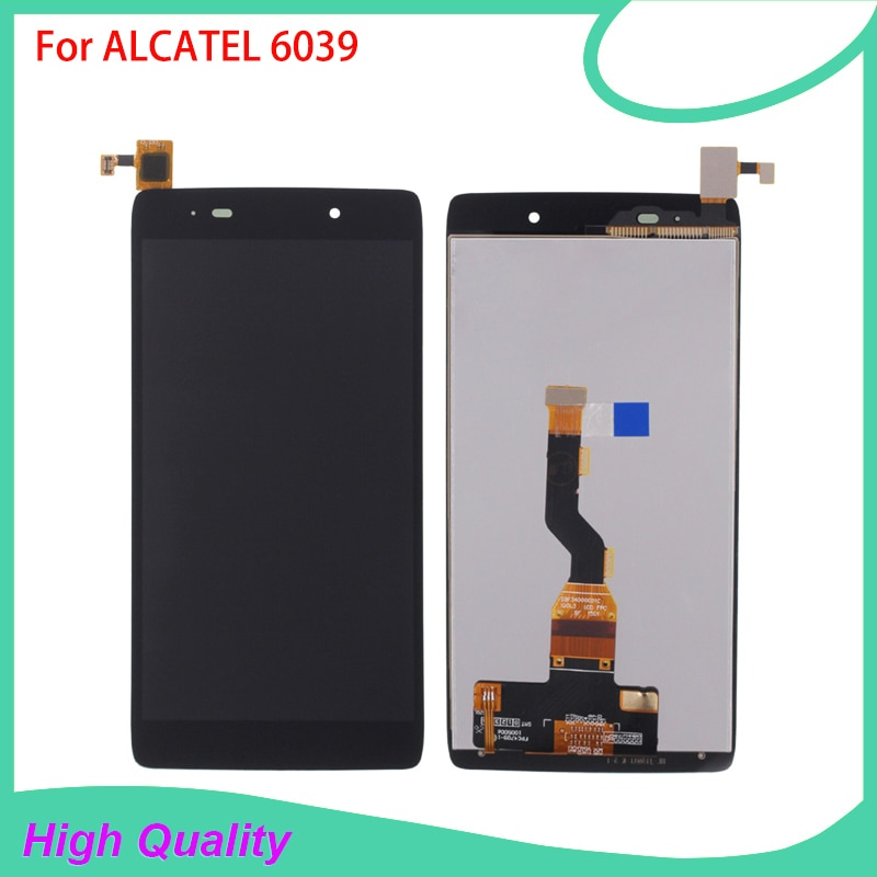 HotSelling LCD Display For Alcatel 6039 6039A 6039K 6039Y Touch Screen BlackColor 100%Guarantee Mobi