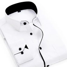 Men's Brand Fashion Loose Casual Long Sleeve Print Shirt Apparel Soft Comfortable Slim Men's Social Business Shirt For Men