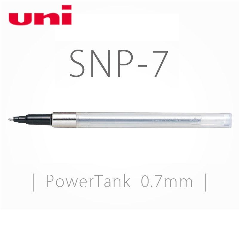 6 Pcs/Lot Uni Power Tank SNP-7 0.7 mm Tip Refill for SN-201PT Retractable Ballpoint Pen