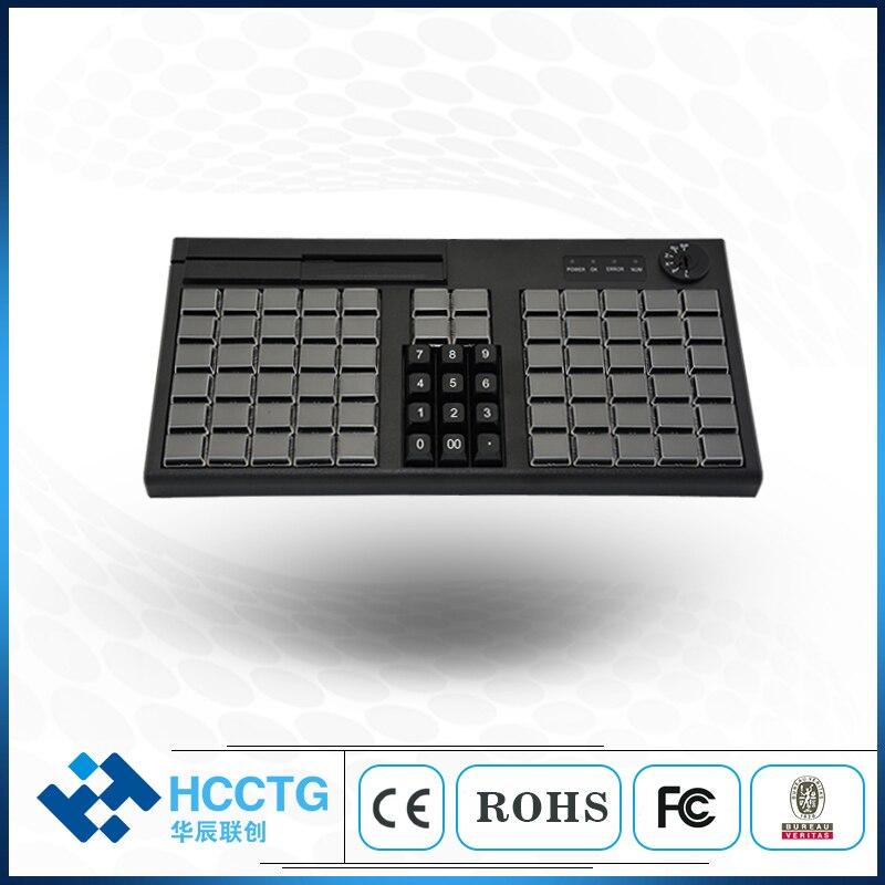 غشاء 76 مفتاح برمجة POS لوحة المفاتيح مع قارئ بطاقات مغناطيسية KB76M
