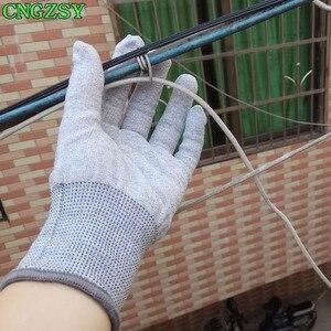 Image 3 - 5 пар износостойких нейлоновых перчаток из углеродного волокна для автомобиля, обертывание, Тонировка окон, вспомогательные инструменты, вязаные перчатки 5D08