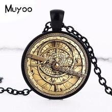 Steampunk 신비 BILL CIPHER WHEEL 목걸이 닥터 누가 유리 mens astrolabe 여성 best friends Pendant HZ1