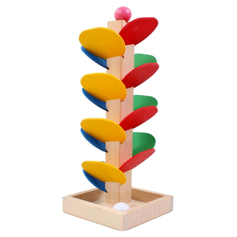 Nova árvore de madeira bola corrida pista jogo bebê crianças inteligência conjunto para a criatividade brinquedo educacional ao ar livre indoor