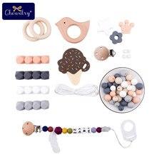 Anneau de dentition en Silicone pour bébé   Bricolage, perle, collier de dentition, pendentif de sucette fait à la main, Clip chaîne pour bébé, Bracelet de dentition, jouet