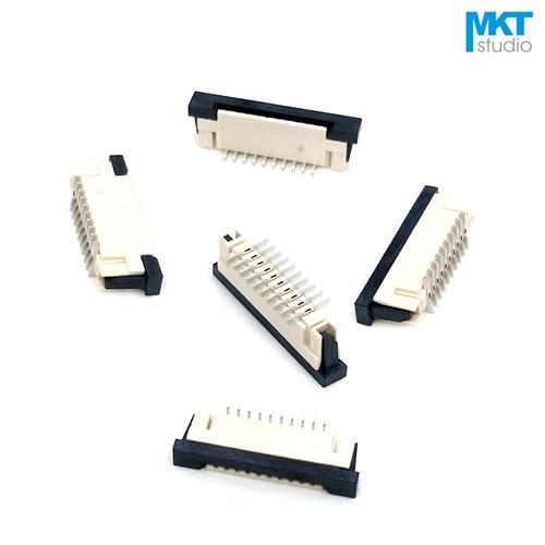 100 piezas SMD de tipo Vertical 12 P/13 P/14 P/15 P 1,0mm 2,5mm de altura FPC FFC conector