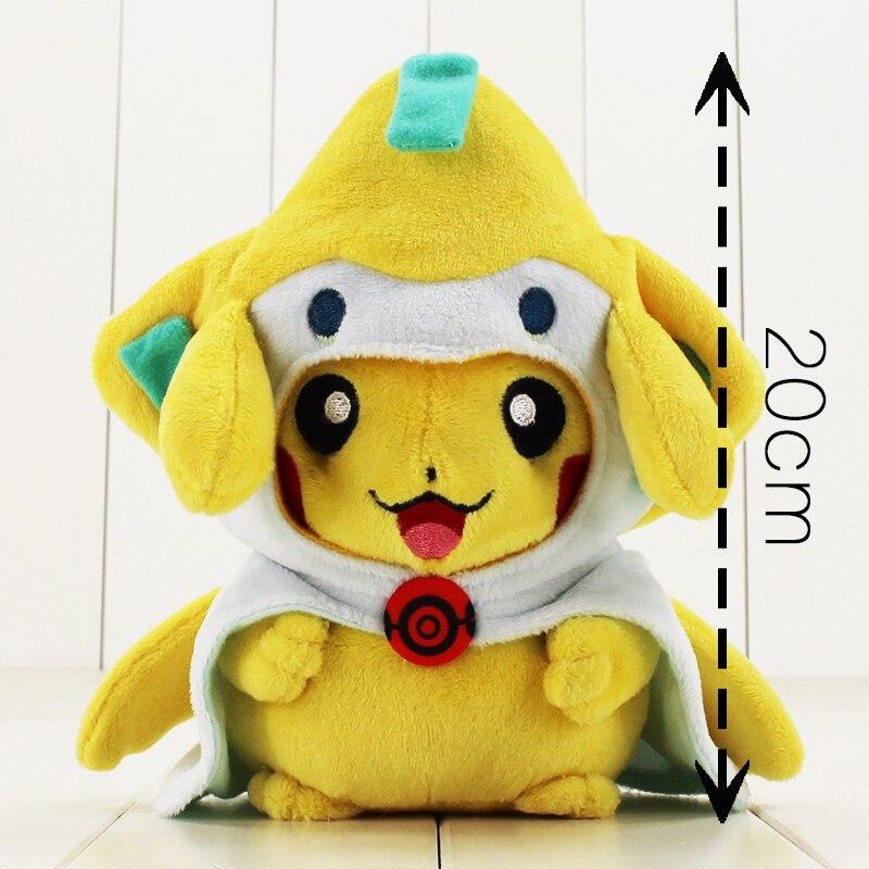 Muñeca de animé Jirachi de 20cm de peluche dulce muñeca de dibujos animados de algodón suave relleno para regalo de cumpleaños