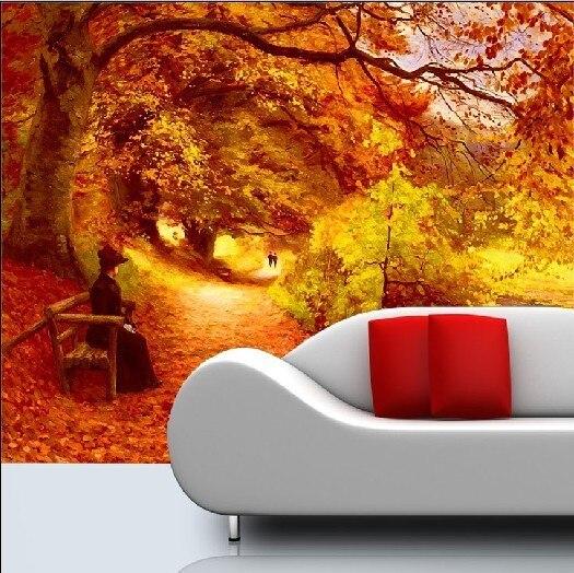 2013Landscape painting large scale murals wallpaper TV background Wallpaper / sofa bedroom|wallpaper for bedroom walls|wallpaper zebrawallpaper panel