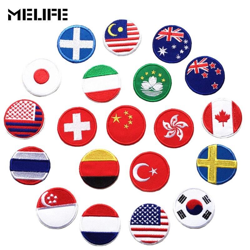 Аксессуары для одежды, нашивки в виде флага страны, нашивки в виде утюга для России, турецкого, французского, американского, европейского, го...