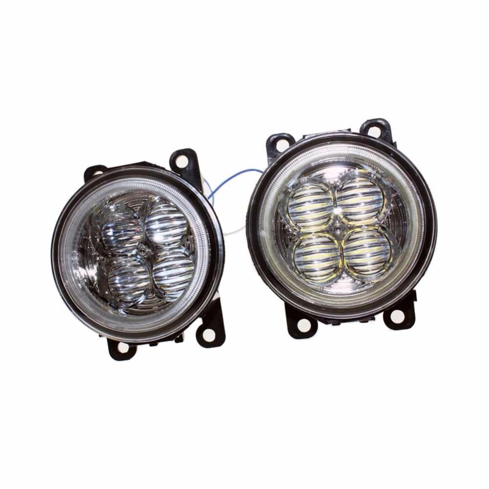 For VAUXHALL ASTRA Mk IV (G) Hatchback  Car Styling Bumper Angel Eyes LED Fog Lamps DRL Daytime Running Fog Lights OCB Lens