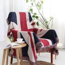 British Flag Knit Sofa Towel Rectangle Thread Blankets Tassel Shawl Carpet Tablecloth Air Conditioner Throw 130*180/180*230cm