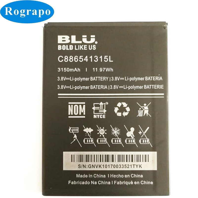 New 3150mAh Replacement Battery For BLU VIVO XL V0030UU C886541315L Original Bateria Batterie Cell Mobile Phone Batteries