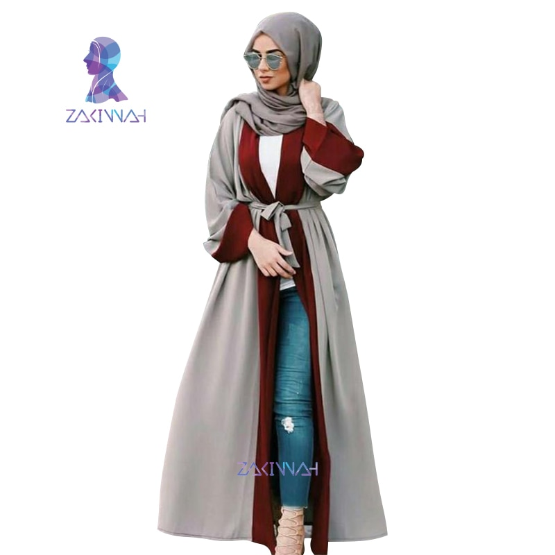 Zakiyyah Dubai Medio Oriente Vestido largo de talla grande musulmana mujeres moda encaje túnica marroquí Ramadán árabe islámico ropa