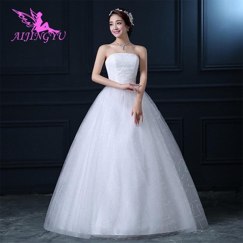 AIJINGYU 2018 bridal free shipping new hot selling cheap ball gown lace up back formal bride dresses wedding dress FU140