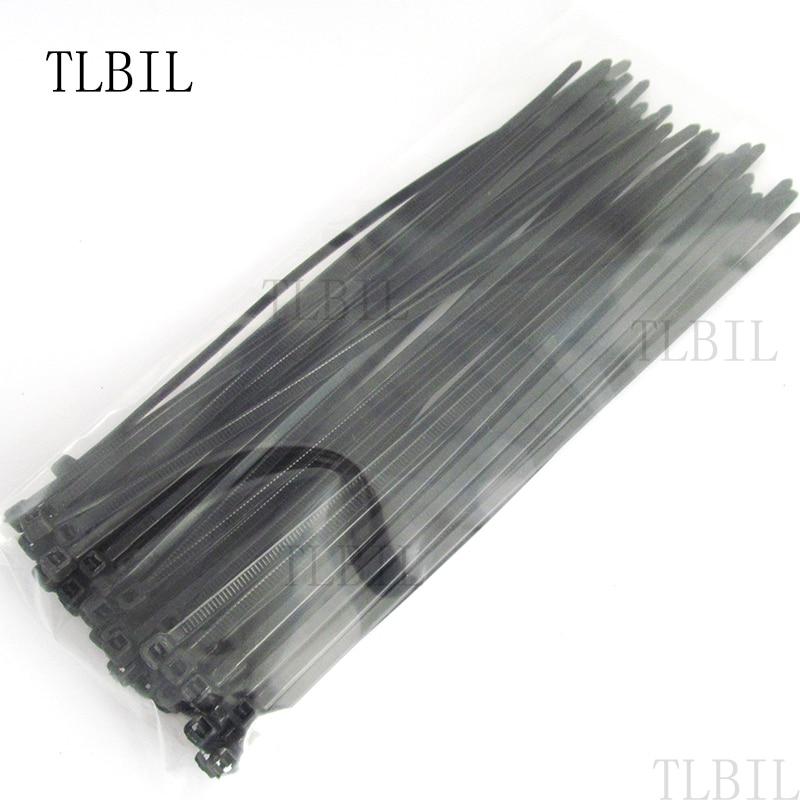 "50pcs Black 12"" 5*300mm Network Nylon Plastic Cable Wire Zip Tie Cord Strap 5x300mm"