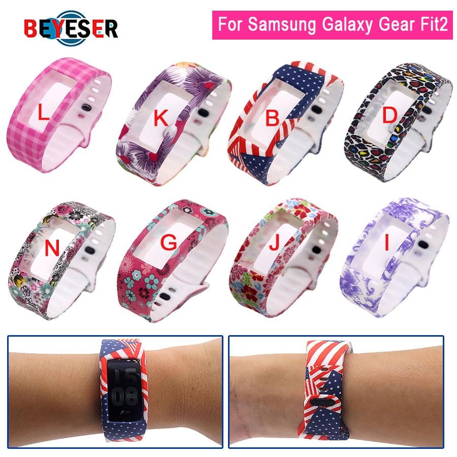 BEYESEY Sports Silicone Strap Para Samsung Galaxy Engrenagem Fit2 Pro Banda Relógio de pulso pulseira de tiras para a Engrenagem Samsung relógio Fit2 banda