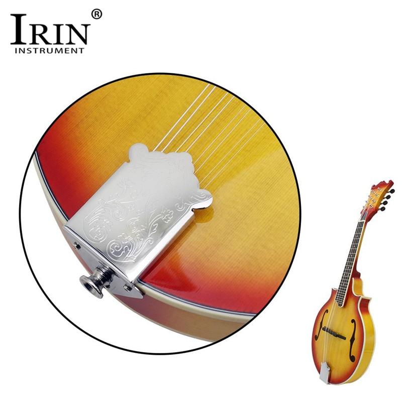 Cola de mandolina profesional IRIN, diseño de flor, pieza trasera para caja de puros mandolina, guitarra, accesorios de guitarra de plata