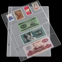 1Pc Paper Money pages 4 Pockets 25 5 20cm Bill Note Currency Holder Album Pages Collection Coin Purses Free Shipping