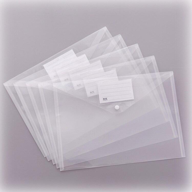Прозрачный матовый пластиковый пакет для документов, папка A4, конверты, сумка для хранения документов с этикеткой, наклейка, расширяющийся файл, водонепроницаемый