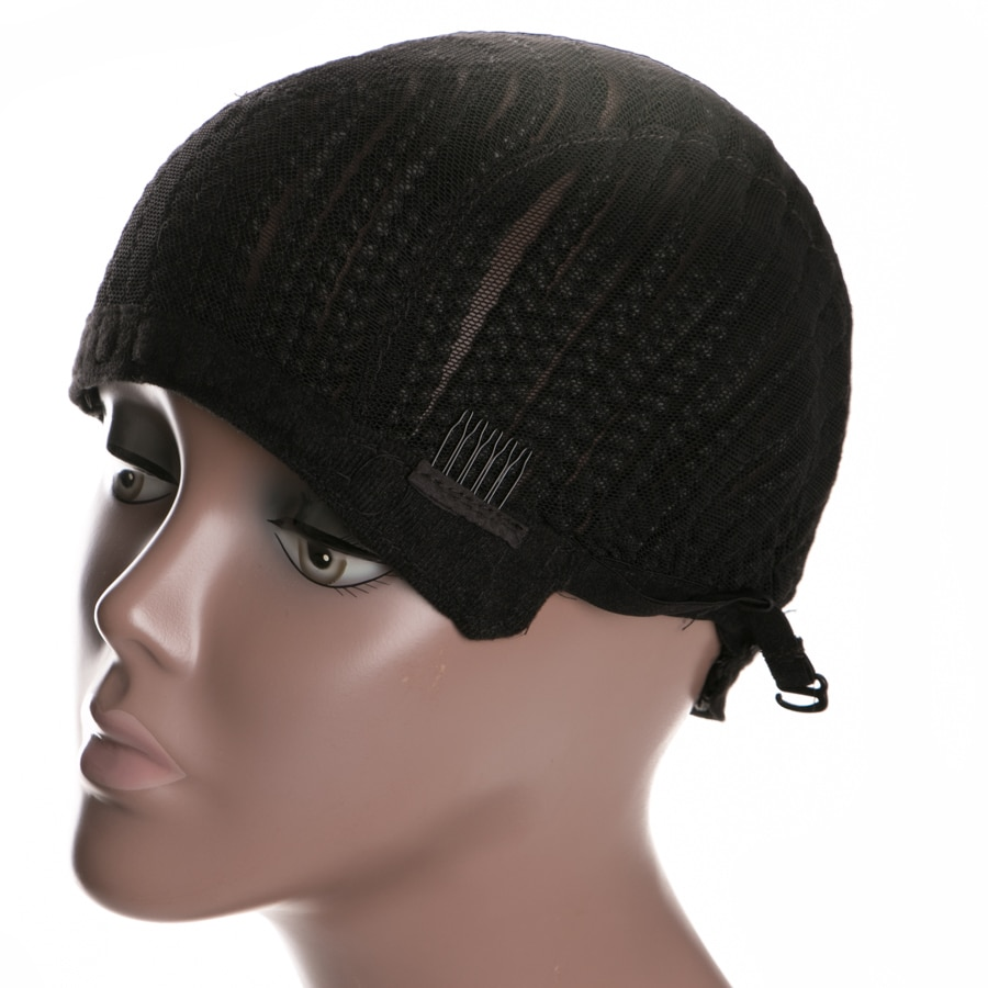 Cornrow Wig Caps For Making Wigs With Adjustable Strap Braided Products synthetic 1 piece Women Hairnets Easycap