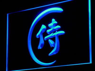 I921 Samurai japonés Katana Bar cerveza Decoración Luz de neón señales encendido/apagado Swtich 20 + colores 5 tamaños
