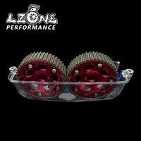 LZONE - Aluminum Cam Gear+Cam Cover FOR 2JZ-GTE Supra GS300 IS300 JR6531R+6332