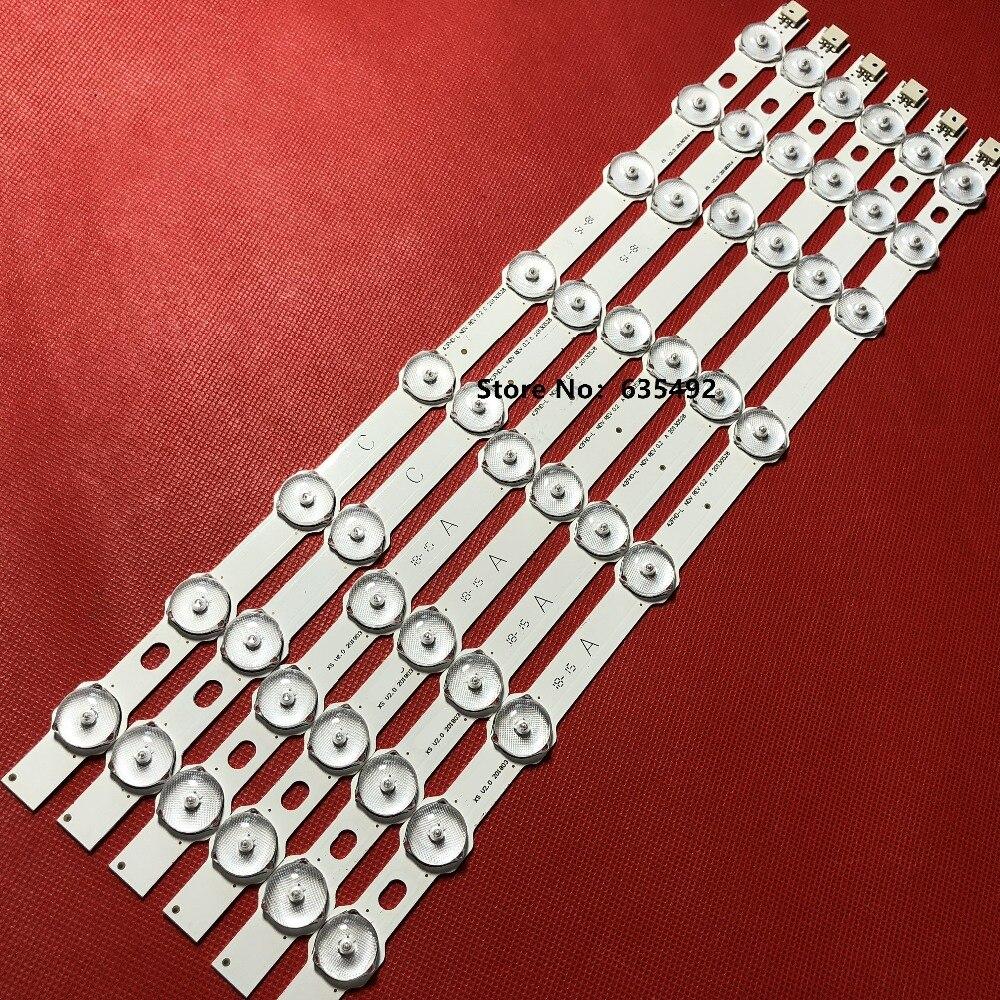 6 uds (4A + 2B) LED lámpara de luz de fondo de para ESTEL 42FA5000 42FA8000 42 VNB reducido B-C VES420UNDL-2D-N03 VES420UNDL-3D-N02