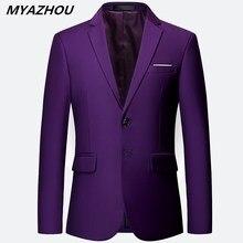 Nuevo blazer de lujo para hombre tamaño grande 6XL chaqueta delgada de color sólido, moda negocios y banquetes vestido de novia chaqueta S-6XL