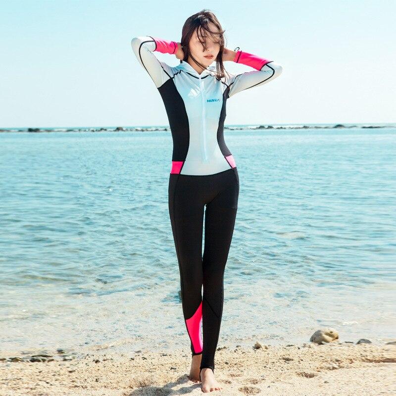 Traje de buceo con protector solar Hisea, pantalón de manga larga, cremallera de movimiento, servicio de natación, surf, playa, traje de baño de velocidad, ropa de Medusa
