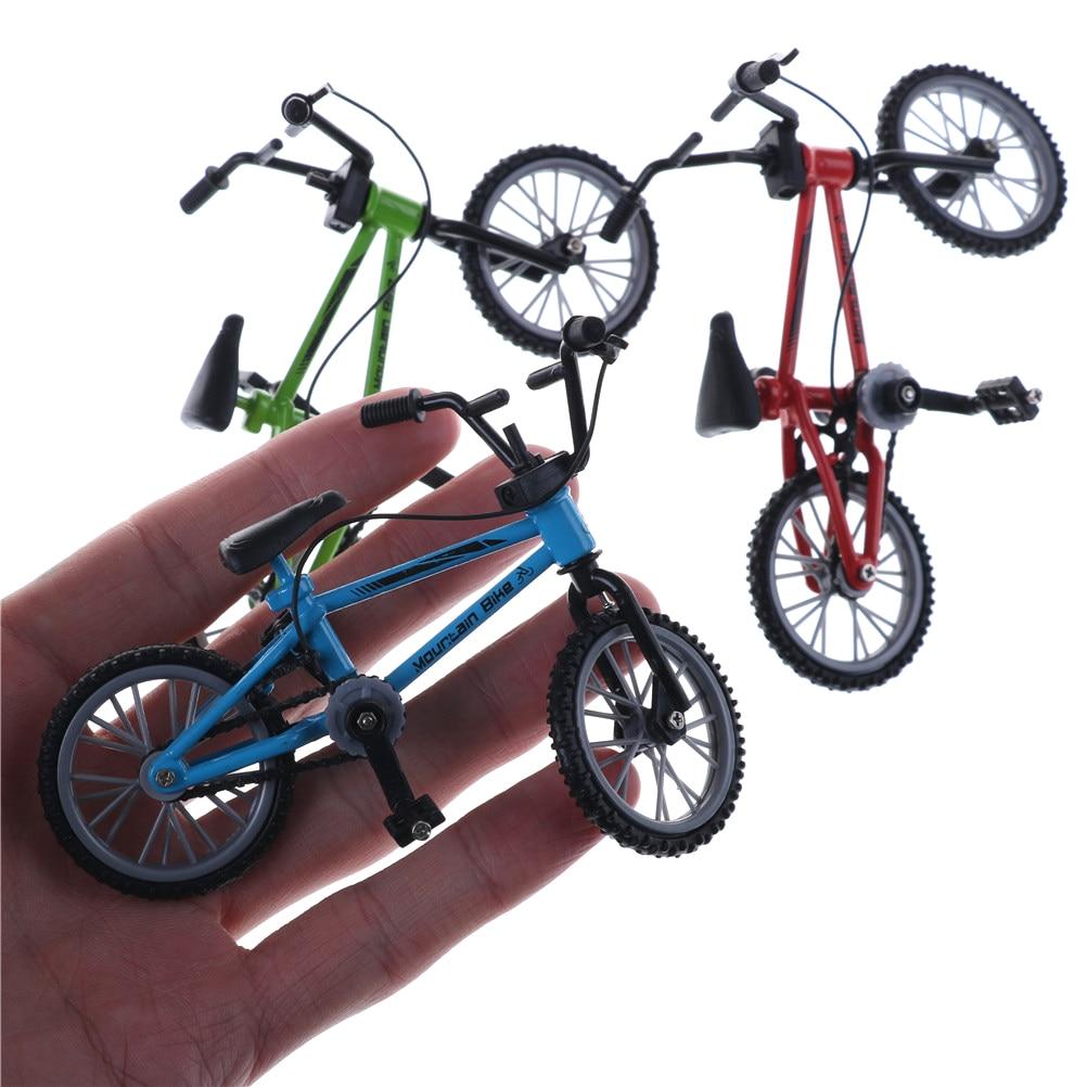 Bonito mini dedo bmx brinquedos de montanha bicicleta bmx fixie dedo scooter brinquedo criativo jogo terno crianças adulto 3 cores