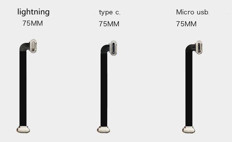 Cable de carga para teléfono inteligente, Cable de carga sin costuras, cardán,...