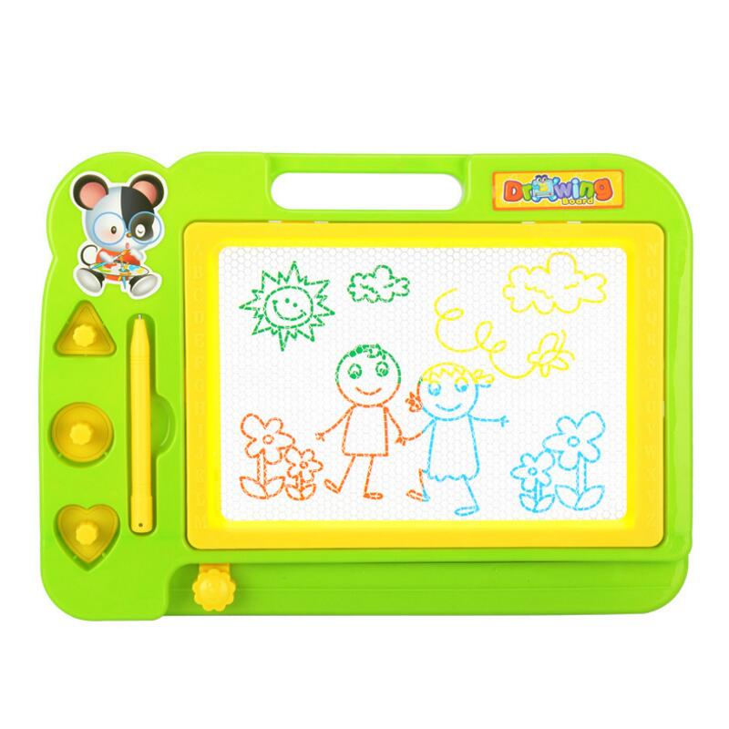 Children Creativity Writing Stencil Painting Magnetic Plastic Drawing Board Set Learning Educational Toys Graffiti blackboard wood figurines easel racks double sided magnetic small blackboard brackets baby painting board wooden drawing educational toys
