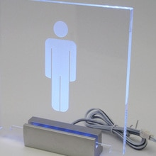 Pince à signe en acrylique de 12cm de Long   Pince à signe en Satin argent et aluminium, signes lumineux pour verre, pince en acrylique pour publicité