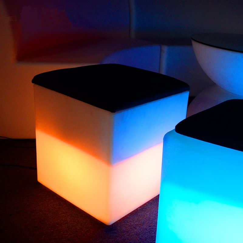 High quality waterproof Ice bucket combo night light Led 40x46cm wine cabinet cube with cushion KTV bar fixtures lamps chairs enlarge