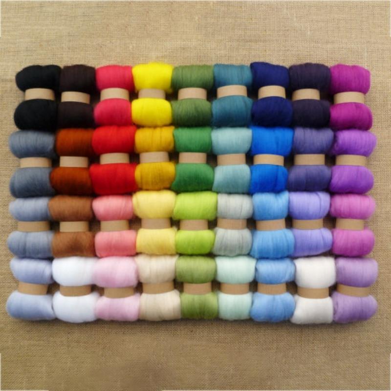 Home Sewing Supplies Wool Felt Poke  Material Bag Hand DIY Needle Felt Wet Felt Color Wool 36 Colors