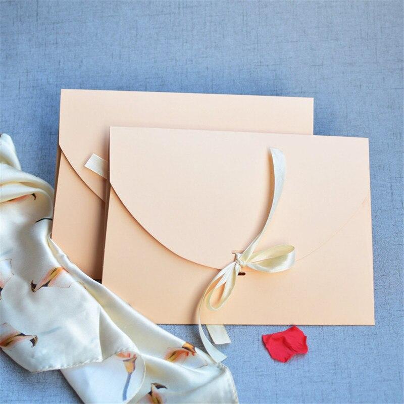 Bolsa de papel rosa incarnadine 500 Uds., bolsa tipo sobre, bolso de bufanda, caja de regalo, caja de embalaje de seda, caja de cartón para regalo