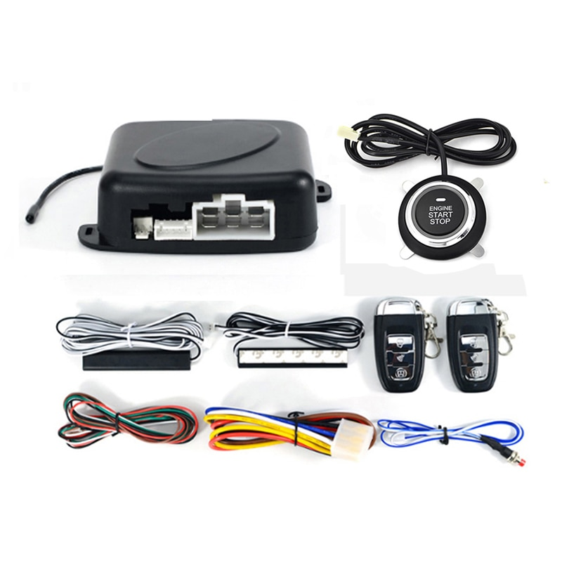 Universal 12V Car Engine Ignition Start Stop Button System Starline Auto Alarm Remote Starter SUV PEK Keyless Entry System In RU