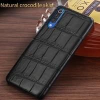 100 original crocodile leather case for xiaomi mi 9t pro 9 lite 10t 10 ultra 11 pro luxury phone cover for redmi note 9s 8 8t