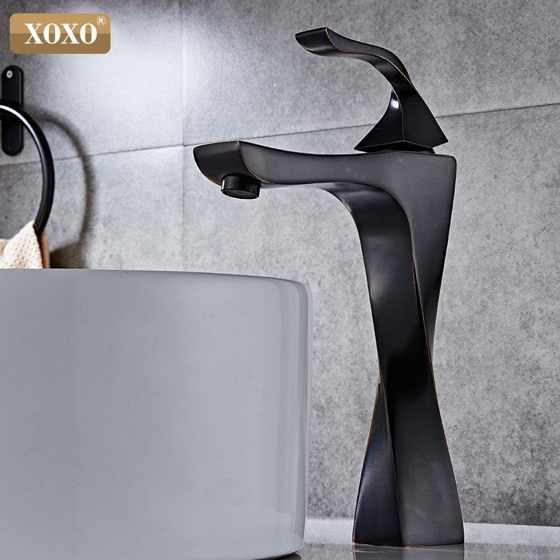 Xoxo bacia torneiras de bronze contemporânea único punho torneira misturadora torneiras do banheiro torneira quente e fria torneira da bacia de lavagem do galo 20065-1