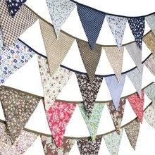 Banderoles en tissu 12 drapeaux   3.2M, style ethnique, en coton, style fleur, Vintage, guirlande réception-cadeaux pour bébé, décoration pour jardin, réception de mariage, nouvelle collection
