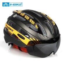 INBIKE casque de cyclisme vtt vélo lunettes Helme professionnel montagne course casque Ciclismo hommes femmes vélo IN-moule en toute sécurité casquette