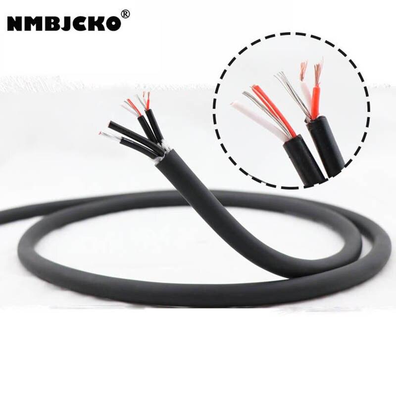 Cable de Audio multicópico equilibrado de 4 canales NMBJCKO Series de gran calidad, cable serpiente para escenario de audio Multimedia con 10M