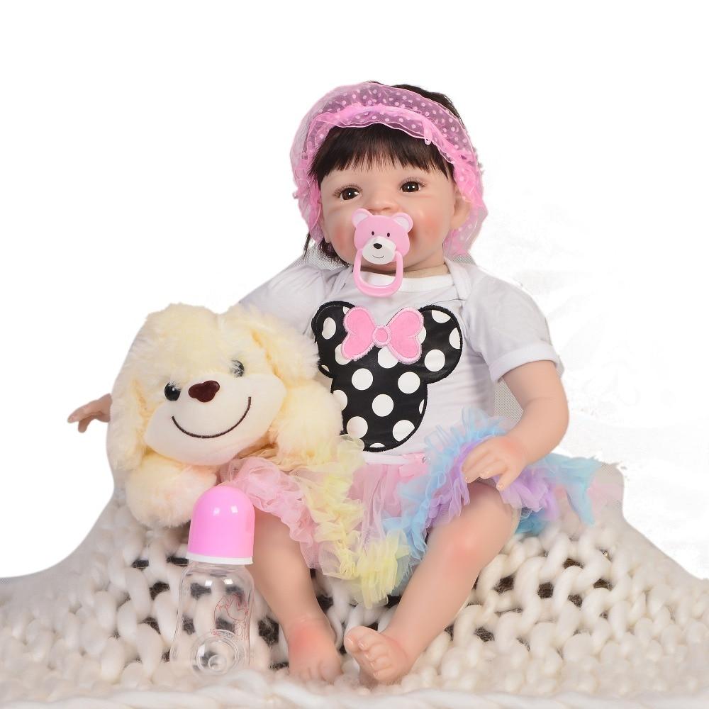 Lol reborn doll 22 pulgadas hechos a mano nuevos silicona reborn vivo super realista niño Bonecas chica chico menina de silicona lol doll