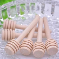 8cm mini wooden honey dippers honey spoon mixing stick for wedding favors home kitchen supply lx3634